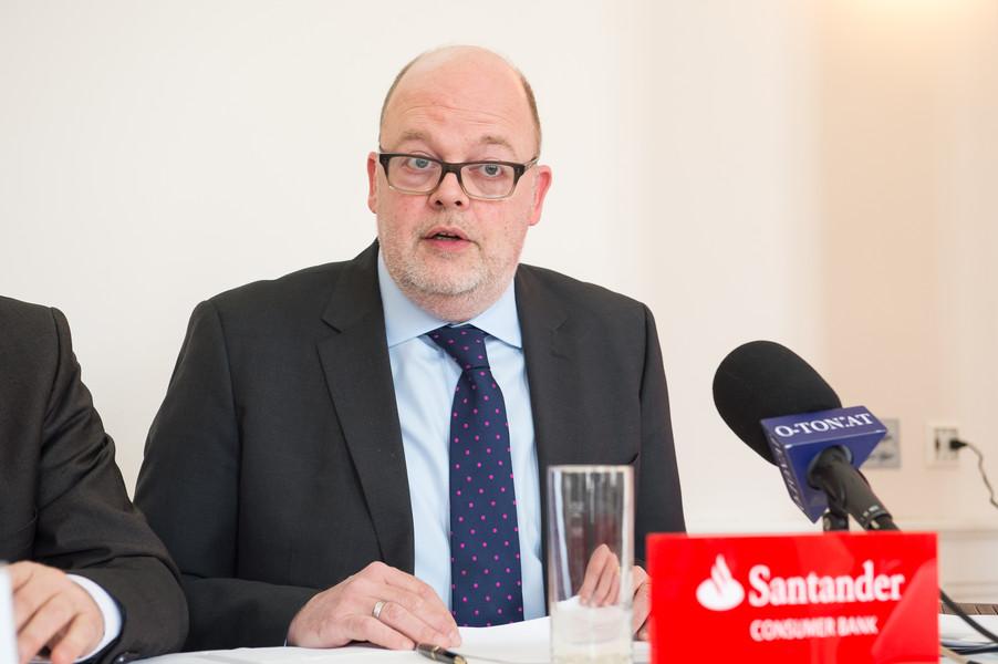A branch of Santander in Cardiff, United Kingdom.